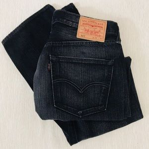 Levi's Men 501 Button Fly Jeans in Faded Black